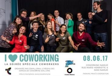 3ème Soirée I Love Coworking, ce 8 Juin à Namur !